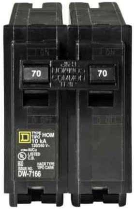 Your One Source HOM270CP 70a 2p Plug-On Circuit Breaker
