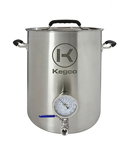 brew kettle with ball valve - 2