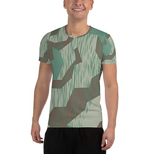 UpCrafts Studio Design Wehrmacht Shirt - Splinter Pattern WWII German Camo  - WW2 Reenactment