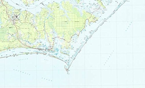 rint Entitled Cape Lookout National Seashore & Morehead City Map by Alleycatshirts @Zazzle   24 x 15 ()