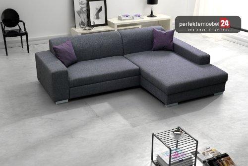 COMO Sofa Ecke Couch mit Schlaffunktion Eckcouch Polstergarnitur Wohnlandschaft (aruba)