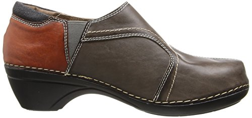 Taupe Womens Spring Step Spring Womens Fashion Janella Clogs Lightweight Step Janella XvqAw
