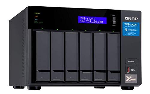 QNAP TVS-672XT 6 Bay Thunderbolt 3 NAS with 8GB RAM, 10GbE, M.2 PCIe Nvme SSD Slots by QNAP (Image #2)