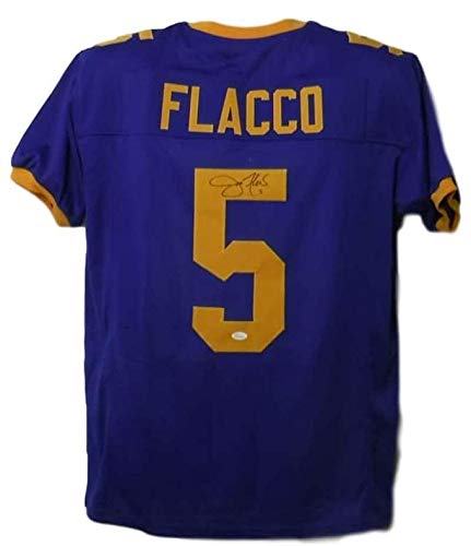 94141b70693 Image Unavailable. Image not available for. Color  Autographed Joe Flacco  Jersey - Xl 10052 - JSA Certified ...