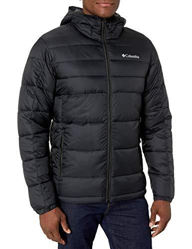 Columbia Men's Buck Butte Insulated Hooded Jacket, Black, Medium (Jacket Large Men Down)