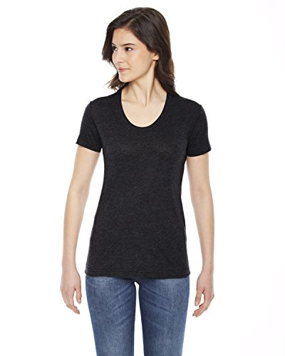 in T maniche cotone poly shirt corte con a donna per americane maniche xww61FIq
