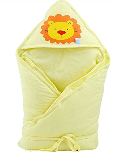 UCUCC Winter Autumn Thicken Infant Swaddle Blanket Adjustable Infant Wrap,100% Cotton,Yellow Color by UCUCC   B00T6JBVA4