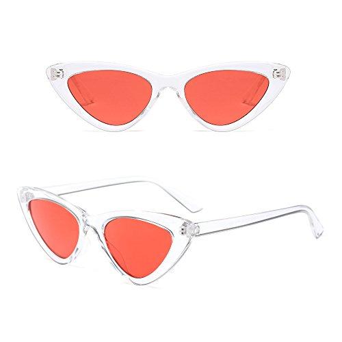 Da Cateye Retro Occhio Triangolari Vintage Di Bozevon BiancoArancione Sole Eyewear Occhiali DonnaUv400 Gatto P0wO8kn