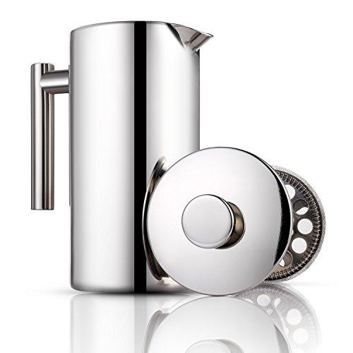 Cheap Miusco Heat Resistant Borosilicate Glass French Press Coffee Tea & Espresso Maker, 1 Liter 34 Oz, Classical