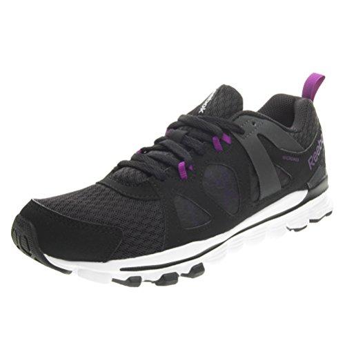 Reebok Hexaffect Run 2.0 - Zapatillas de gimnasia de Material Sintético para mujer Negro Nero/Viola Nero/Viola