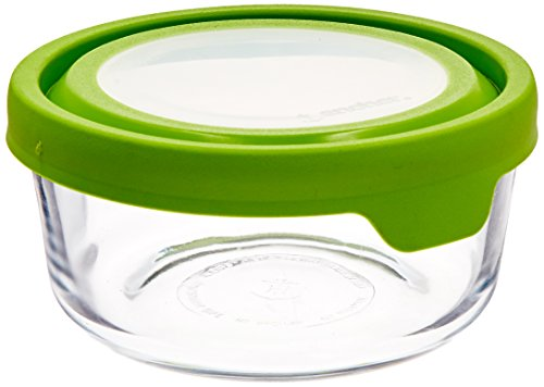 Anchor Hocking TrueSeal Glass Food Storage Container with Airtight Lid, Green, 4 Cup