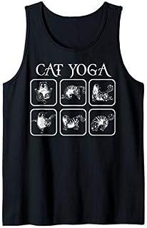 Cute Cat Practing Yoga Gift For Men Women Tank Top T-shirt | Size S - 5XL