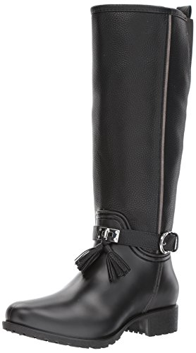 Leather & Shearling Tall Boot - 6