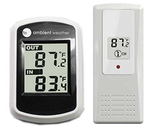 Ambient Weather WS-40 Wireless Thermometer with Indoor and Outdoor Temperature