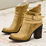 Clearance! Swiusd Womens Roman Short Booties Retro