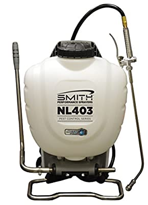 Smith Performance Sprayers NL403 No-Leak Backpack Sprayer for Pest Control, 4 gallon
