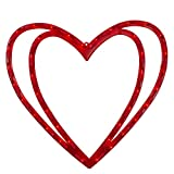 """Northlight 17"""" Lighted Valentine's Day Double Heart Window Silhouette Decoration"""