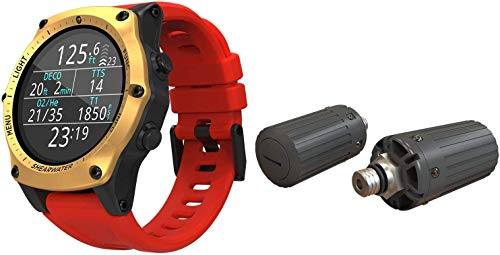 Shearwater Research Teric Wrist Dive Computer with Transmitter - Gold/Red