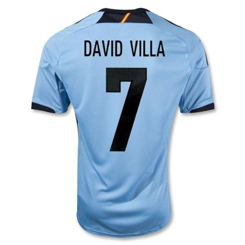 (adidas David Villa #7 Spain Away Jersey 2012/2013 (L) Blue/Black)
