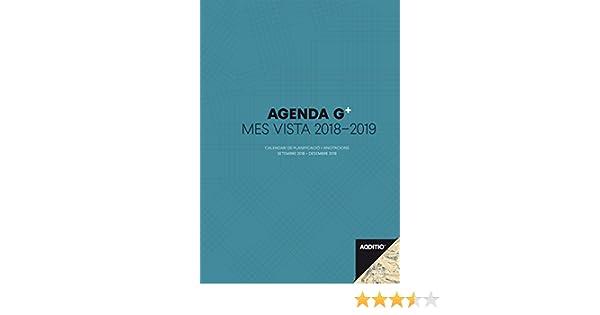 Additio P181-P - Agenda G Plus 2018-19, mes vista más anotaciones, catalán