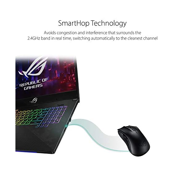 ASUS Portable Wireless Optical Gaming Mouse - ROG Strix Carry | Bluetooth & RF USB - Seamless Connection, No…