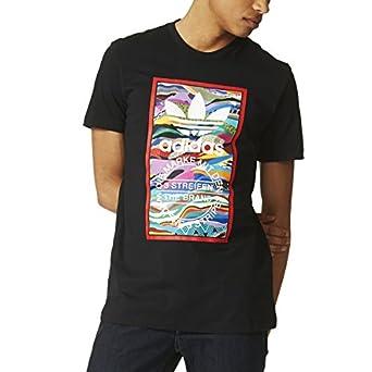 Adidas Originals Color Pattern Tongue Label Men's T-Shirt Black az1054