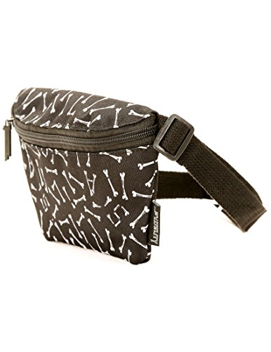 FYDELITY- Ultra-Slim Fanny Pack: GIVE THE DOG A BONE | Doggy Bag, Dog Walking, Dog Treats, Poop bag, Dog Lover by Fydelity