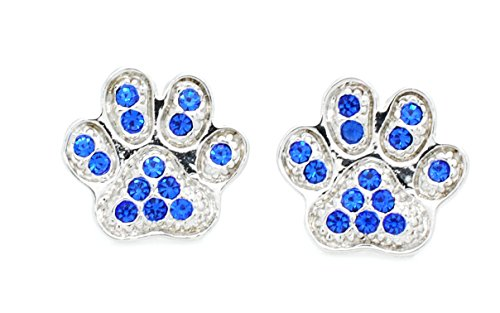 Violet Victoria & Fan Star KENTUCKY WILDCATS PAW PRINT POST EARRINGS
