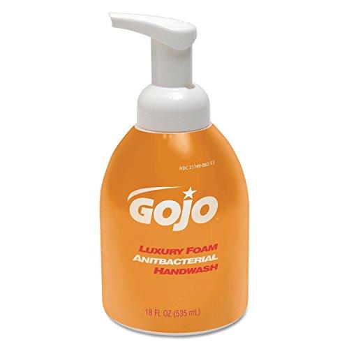 535 Ml Pump Bottle - Gojoâ Luxury Foam Antibacterial Handwash - Orange Blossom Scent - 18.1 fl oz (535 mL) - Pump Bottle Dispenser - Kill Germs - Hand - Amber - Anti-Bacterial, Triclosan-Free - 4 / Carton