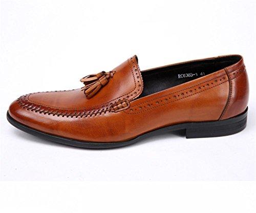 Hombres Oxford Cuero Zapatos Ponerse Borla Formal Boda Negocio Inteligente para los hombres Negro marrón Oficina Trabajo Fiesta Light brown