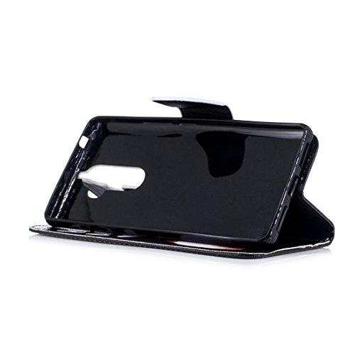 pour cuir magnétique en protection support fermeture portefeuille aérosol cas Note K8 d'impression fente conception de avec Corky Hozor Lenovo en peint PU carte Flip étui avec SWwa7qYSnB