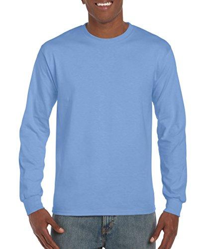 Gildan G240 Ultra Cotton Long-Sleeve T-Shirt - Carolina Blue - S -