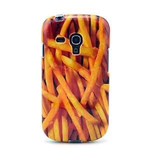 Fries francés Patrón Volver Funda suave para Samsung Galaxy S3 I8190 Mini