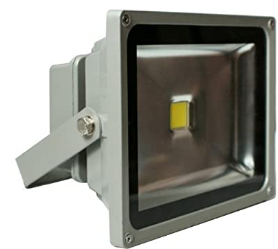 TDLTEK 10W LED Waterpoof Outdoor Security Floodlight 100-240VAC, Warm White