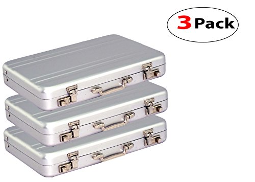 3 Pack New Designer Briefcase Style Credit / Debit / Visiting Business Card - Card Business Car