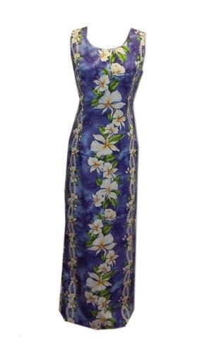Women Rayon Hawaiian Short Silver Orchid Purple Tank dress Jade Fashions Inc