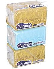 Carmen Smart Pack Napkins, Pack of 3, 600 Napkins - White