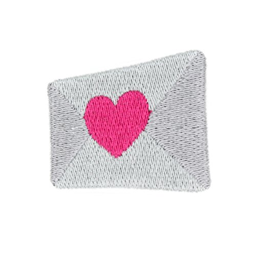 Heart Envelope Iron On Embroidered Patch