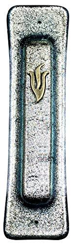 (Tamara Baskin Art Glass Mezuzah - Scroll Included - Hand Made in The USA)