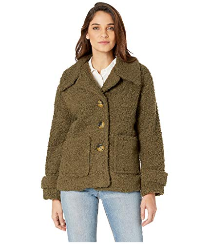 Free People So Soft Cozy Peacoat Green MD (Women