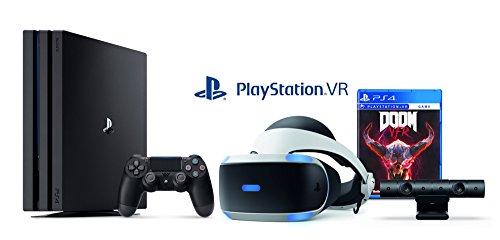 Playstation 4 Pro 1TB Console + Playstation VR - Doom Bundle ( 2 - Items )