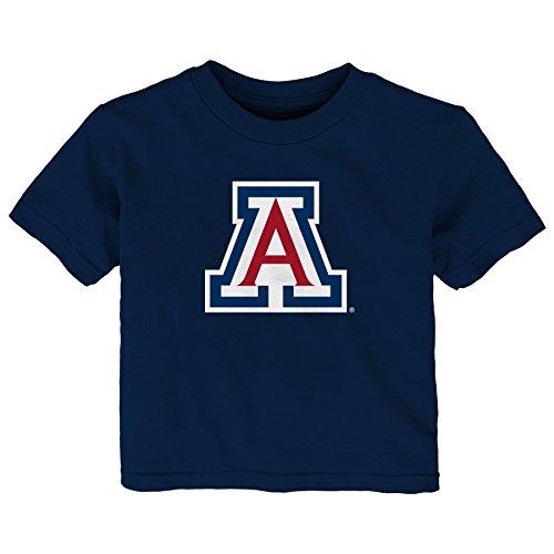 - Gen 2 NCAA Arizona Wildcats Infant Primary Logo Short Sleeve Tee, 12 Months, Dark Navy
