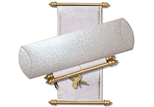 Small Size Scroll Invitations, Mini Scrolls (10 pcs) (Cream)