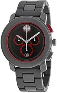 Movado Bold Men's Dark Grey Dial Stainless Steel Band Watch - H2 3600272