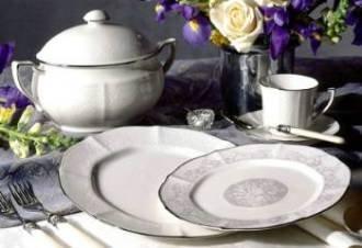 - Noritake Chandon Platinum Dinner Plate by Noritake