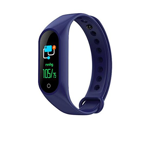 Aoile Color Screen Smart Bracelet Heart Rate Blood Pressure Monitor Fitness Tracker Wristband Gift Ornament by Aoile
