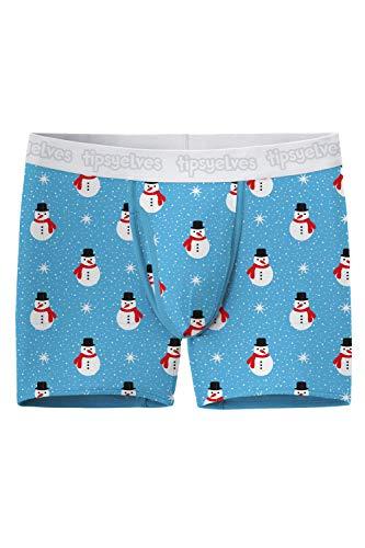 Men's Snowman Underwear - Christmas Boxer Briefs: XL (Undies Christmas)