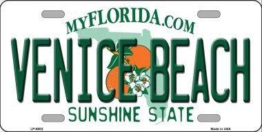 Venice Metal - Smart Blonde LP-6002 Venice Beach Florida Novelty Metal License Plate