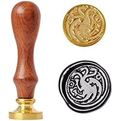 UNIQOOO Arts & Crafts the Ferocious Dragon Wax Seal Stamp, Great for Embellishment of Envelope, Post Card, Snail Mail, Invitations, Wine Packages, Gift Decoration, etc-Gift Idea for Artistic Types