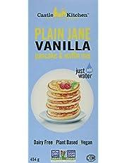 Castle Kitchen Plain Jane Vanilla Pancake & Waffle Mix – Vegan, Plant Based, Dairy Free, Non-GMO Project Verified, Kosher, Complete Mix, Just Add Water – 454gr